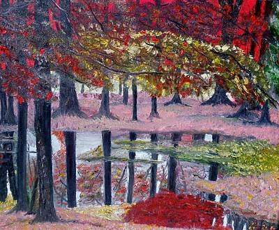 Art Print featuring the painting Natures Painting by Marilyn  McNish