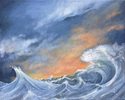 Raging Painting - Nature's Passion by Arie Van der Wijst