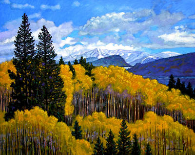 Mountains Painting - Natures Patterns - Rocky Mountains by John Lautermilch