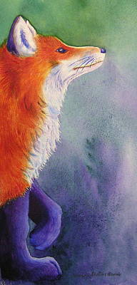 Fox Kit Painting - Natures Redhead by Tracy L Teeter