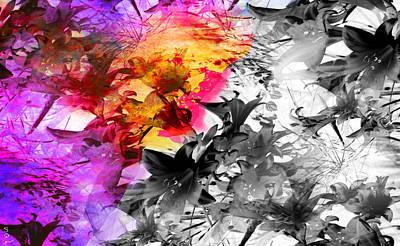 Metal Digital Art - Nature's Wild Bouquet by Abstract Angel Artist Stephen K