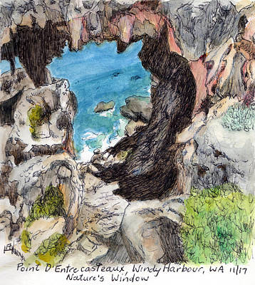 Drawing - Nature's Window by Anne Huth