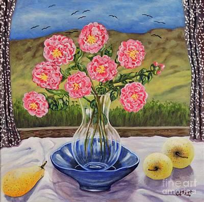 Tableware Painting - Natures Window by Caroline Street
