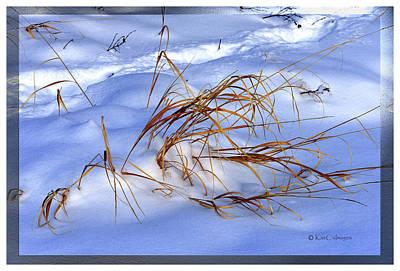 Digital Art - Nature's Winter Abstract #3 by Kae Cheatham