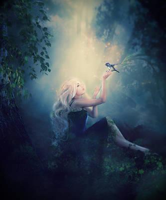 Fantasy Digital Art - Natures Wish by Karen Koski