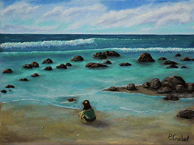 Rocks. Tidal Pool Painting - Natures Wonders by Ron Gallant