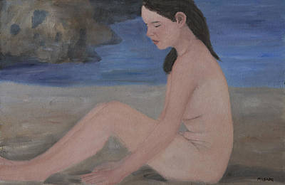 Painting - Naturist Sunbather by Masami Iida