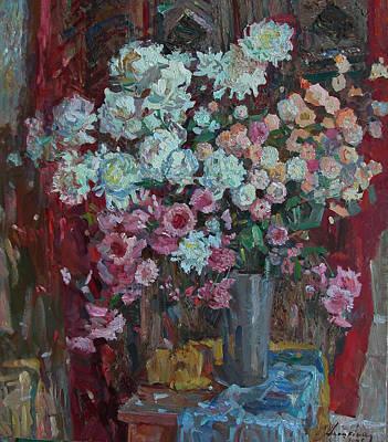 Naturmort Painting - Naturmort S Loskutnym Odeialom by Svetlana Anoshkina