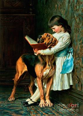 Girl Wall Art - Painting - Naughty Boy Or Compulsory Education by Briton Riviere