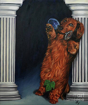 Painting - Naughty Mr. Mac by Rebecca Tiano