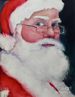 Painting - Naughty Or Nice ? Santa 2016 by Rhonda Hancock