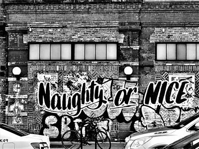 Photograph - Naughty Or Nice In B W by Rob Hans