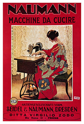 Royalty-Free and Rights-Managed Images - Naumann - Sewing Machines - Vintage Advertising Poster by Studio Grafiikka