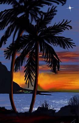 Digital Art - Naunahani Beach by Gerry Morgan