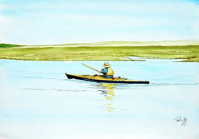 Painting - Nauset Kayaker by Paul Gaj
