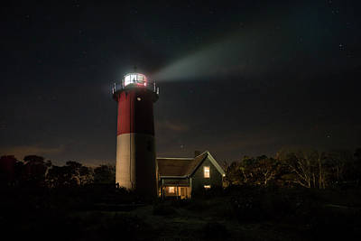 Photograph - Nauset Light At Night by Betty Wiley