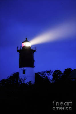 Noreaster Photograph - Nauset Light During Storm by John Greim