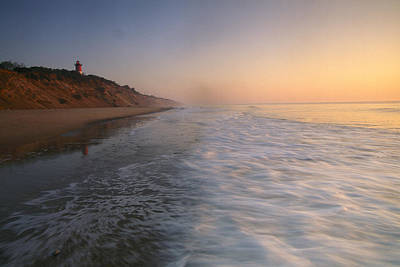 Nauset Light On The Shoreline Of Nauset Print by Michael Melford
