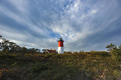 Photograph - Nauset Lighthouse And Clouds by Marianne Campolongo