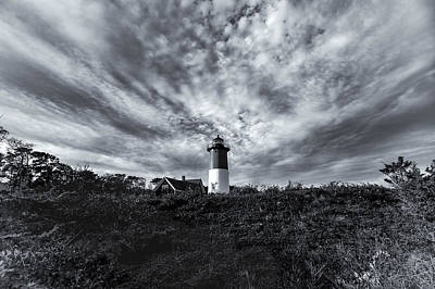 Photograph - Nauset Lighthouse Classic Black And White by Marianne Campolongo