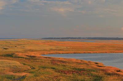 Photograph - Nauset Marsh Autumn Color by John Burk