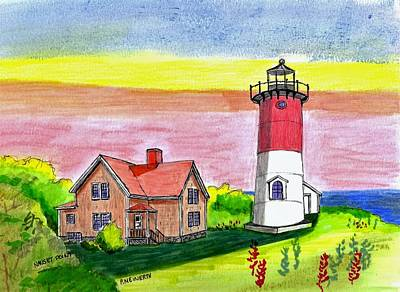 Nauset Point Lighthouse Art Print
