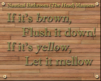 Painting - Nautical Bathroom Humor by Jack Pumphrey
