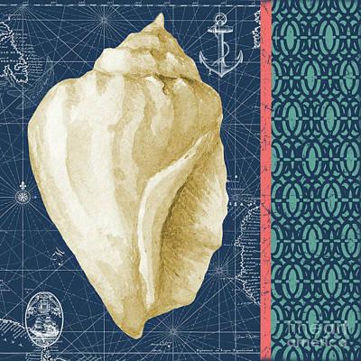Digital Art - Nautical Blues-a by Jean Plout
