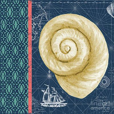 Digital Art - Nautical Blues-b by Jean Plout