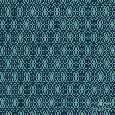 Digital Art - Nautical Blues-c by Jean Plout