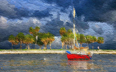Villa Mixed Media - Nautical Breeze by Anthony Fishburne