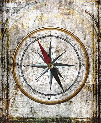 Nautical Compass Rose Art Print by Daniel Hagerman