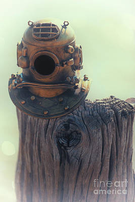 Photograph - Nautical Diver Helmet by Dale Powell