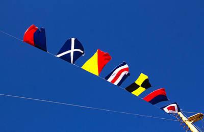 Photograph - Nautical Flags by Carolyn Derstine