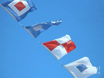 Nautical Flags Flying Art Print