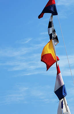 Photograph - Nautical Flags by Karol Livote