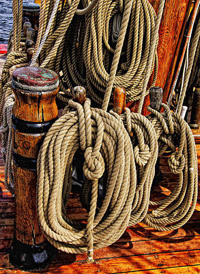 Mark Myhaver Royalty Free Images - Nautical Knots 16 Royalty-Free Image by Mark Myhaver