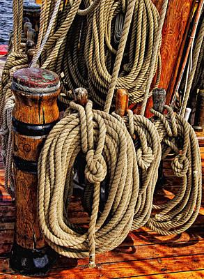 Maine Bounty Photograph - Nautical Knots 16 by Mark Myhaver