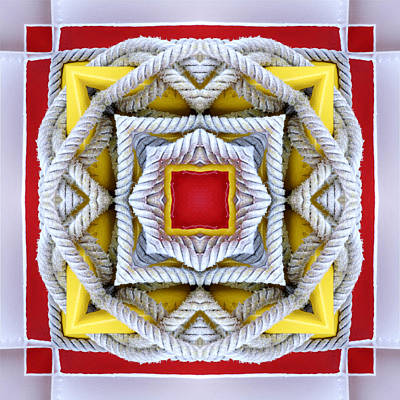 Photograph - Nautical Knots Kaleidoscope by Francesa Miller