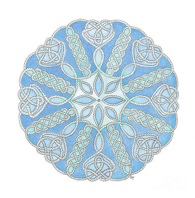 Painting - Nautical Mandala 2 by Stephanie Troxell