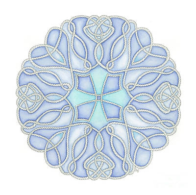 Painting - Nautical Mandala 5 by Stephanie Troxell