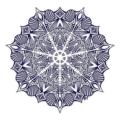 Nautical Mandala Original by Beltolls Art