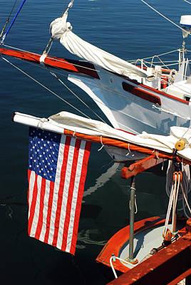Photograph - Nautical Patriot by James Kirkikis