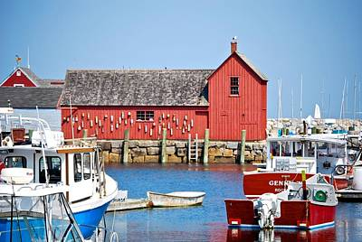 Nautical Rockport Days Art Print