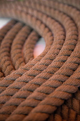 Photograph - Nautical Rope Design by Dale Kincaid