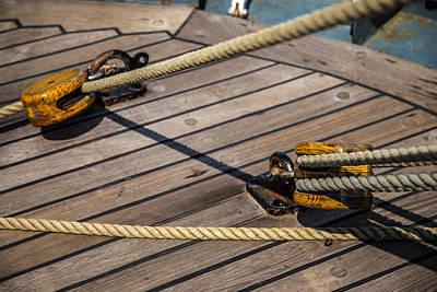 Photograph - Nautical Ropes by Karol Livote