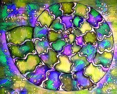 Digital Art - Nautilus Digital 1 by Megan Walsh