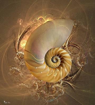 Nautilus Sea Shell Art Print by Ali Oppy