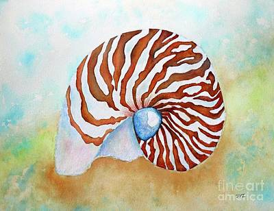 Painting - Nautilus Shell by Janet Immordino