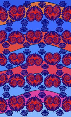 Digital Art - Nautilus Valentine by Vagabond Folk Art - Virginia Vivier